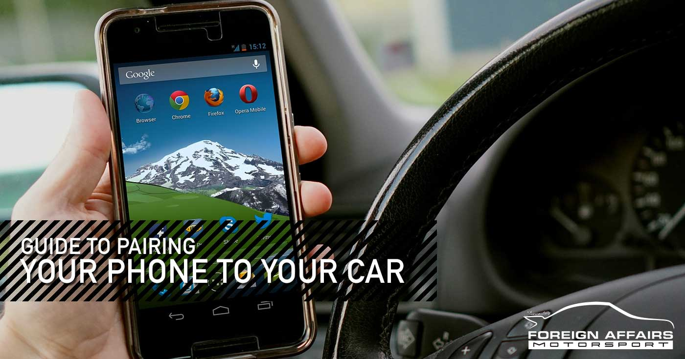 Pairing Your Phone To Your Car