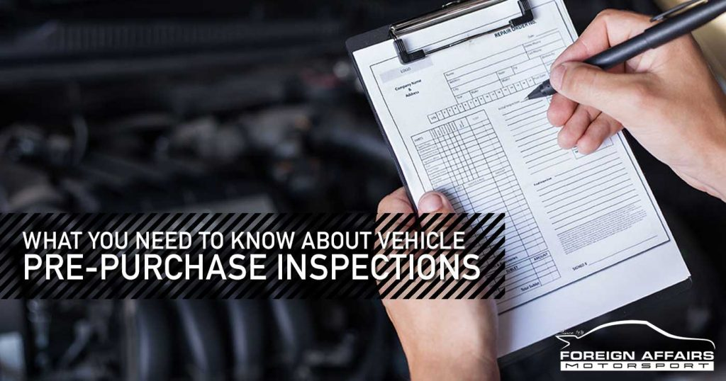 Vehicle Pre-Purchase Inspections