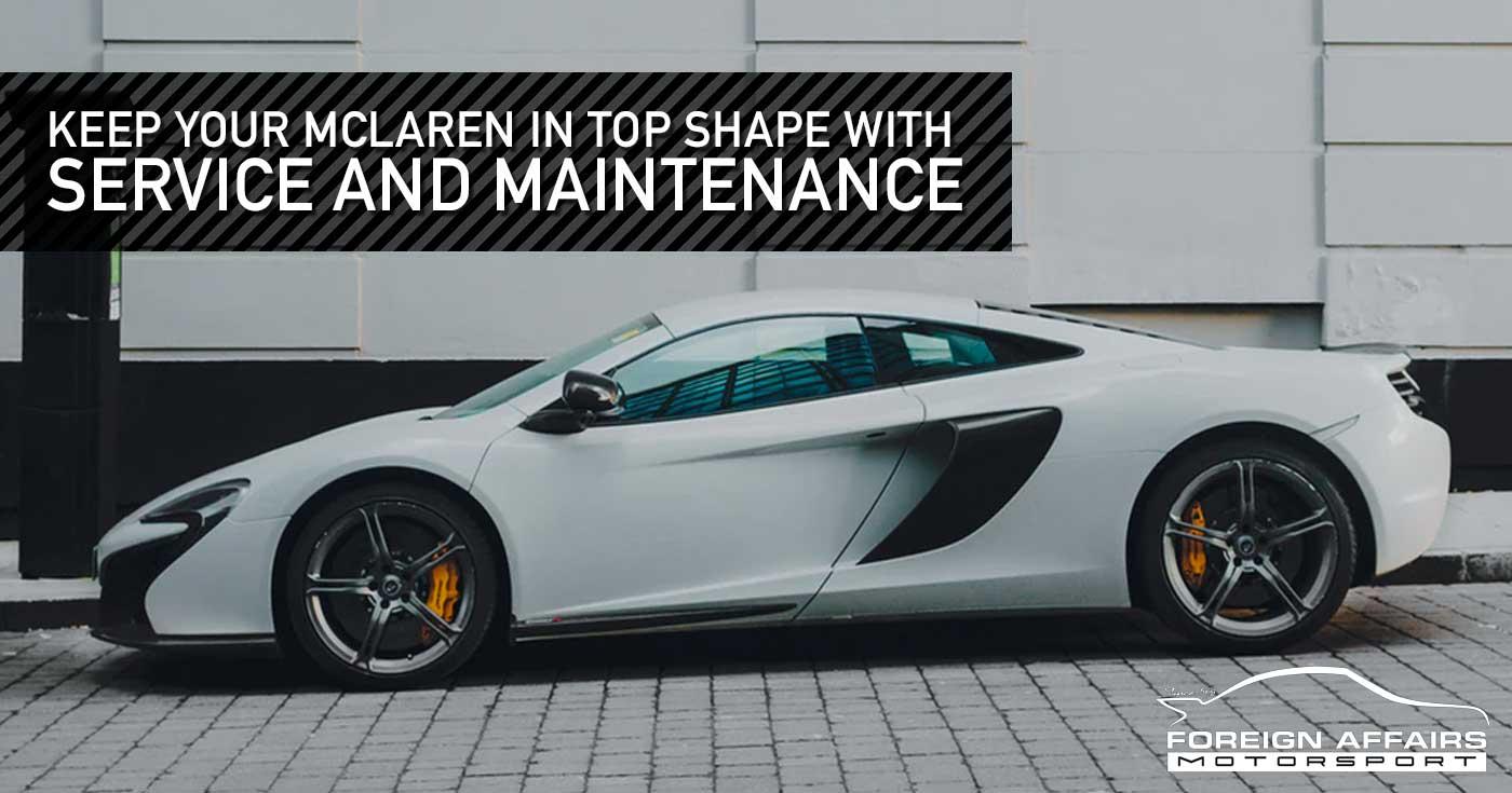 McLaren Service And Maintenance