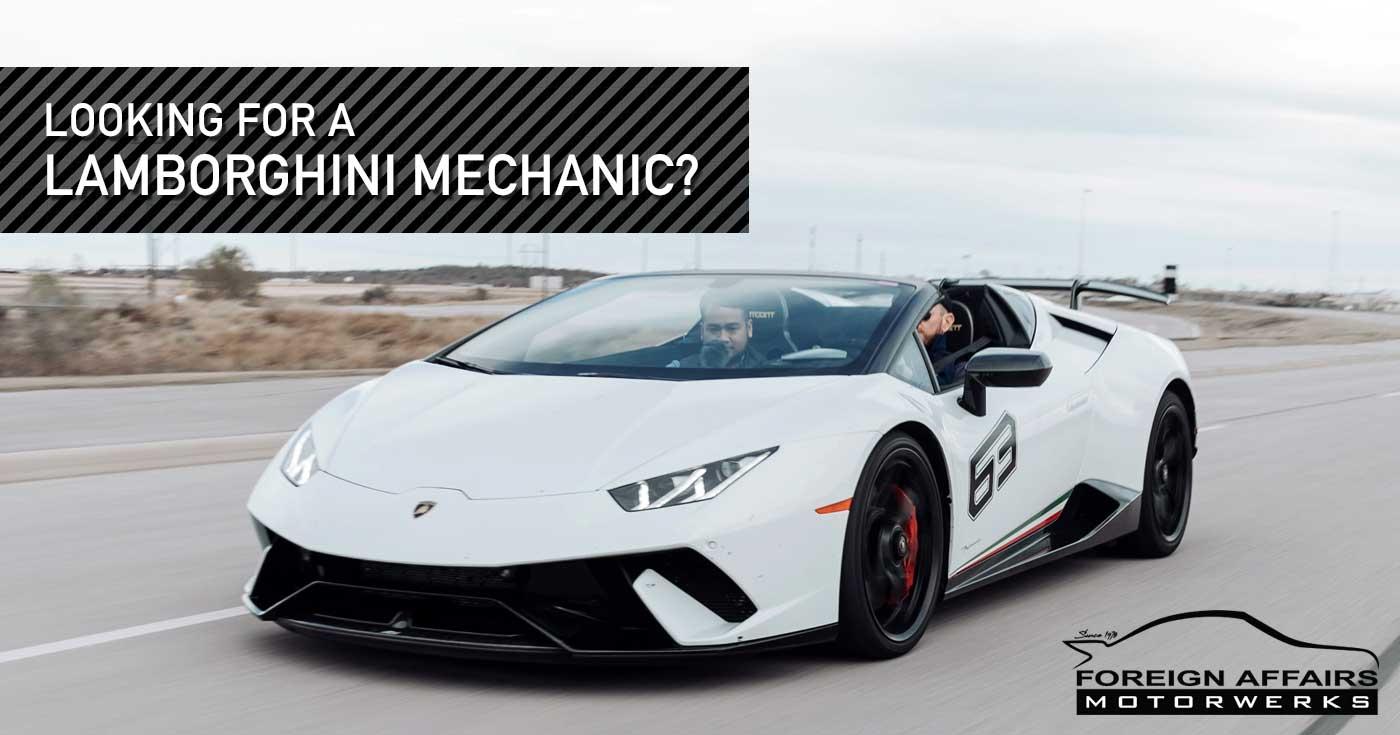 Lamborghini Mechanic