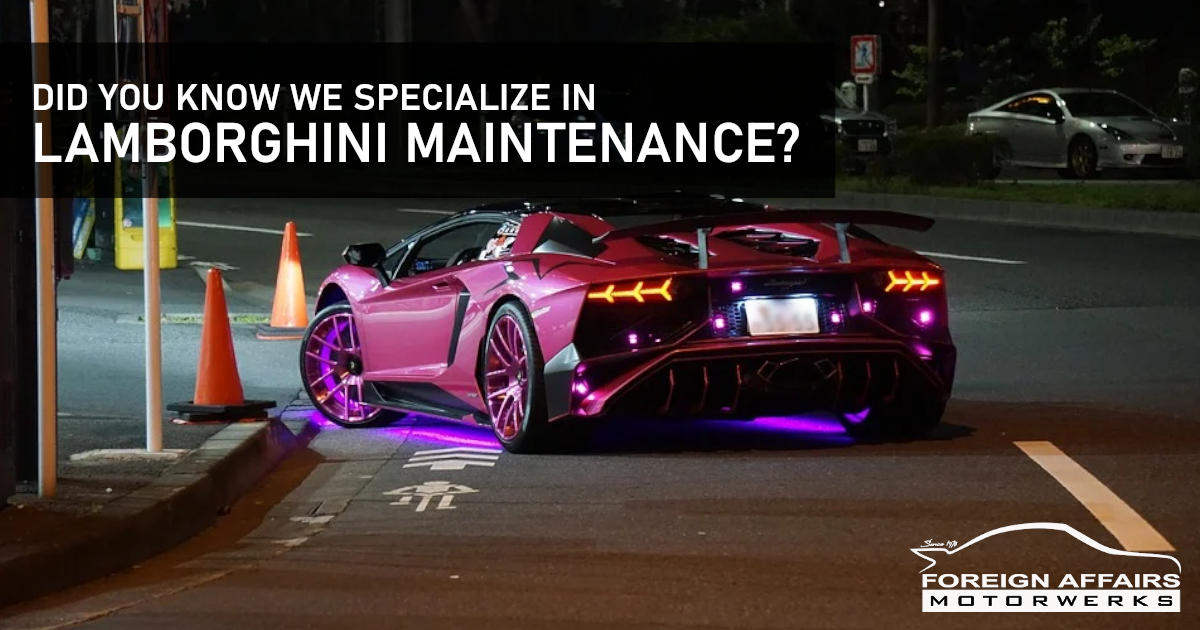 Lamborghini Maintenance