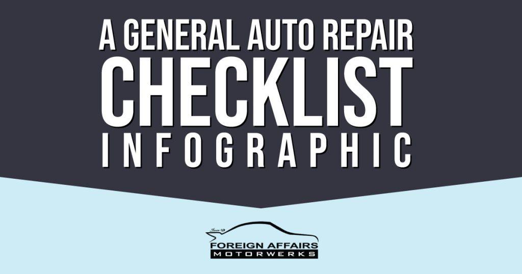 auto repair checklist infographic