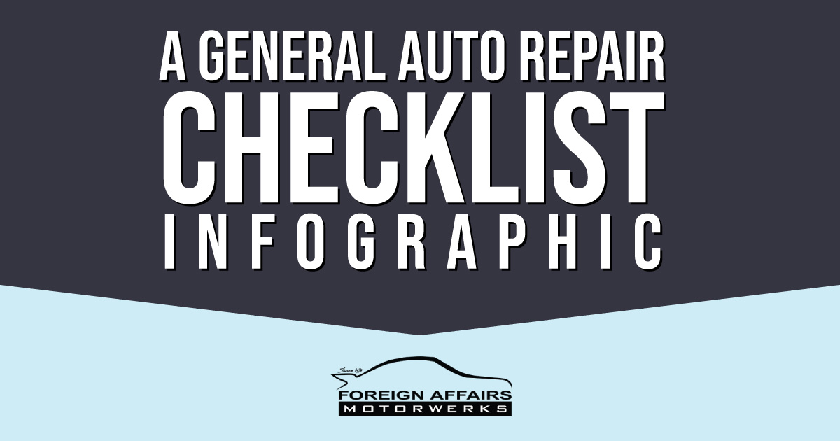 auto repair checklist infographic