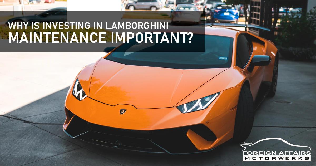 Lamborghini Maintenance