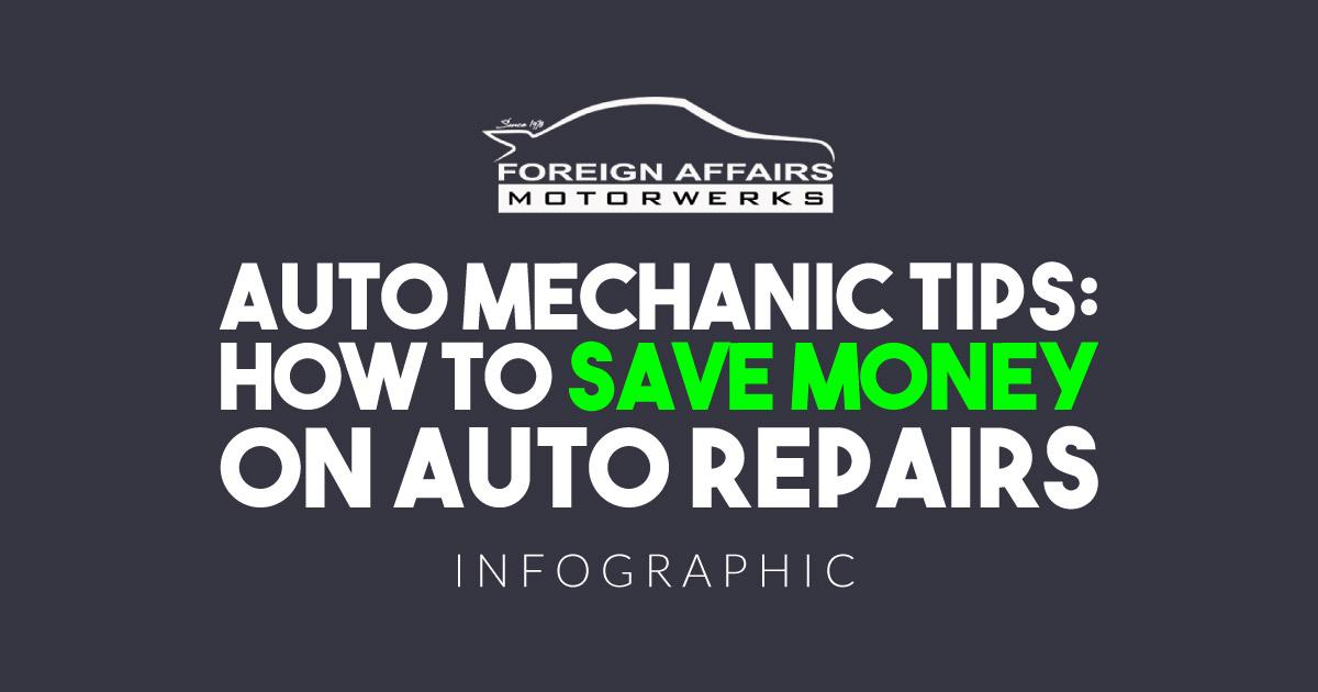 Auto Mechanic Tips infographic